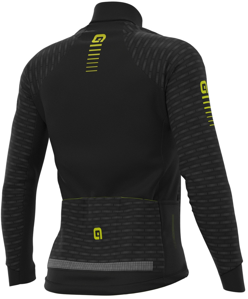 ALE' Green Road PRR Yellow Long Sleeve Jersey Rear