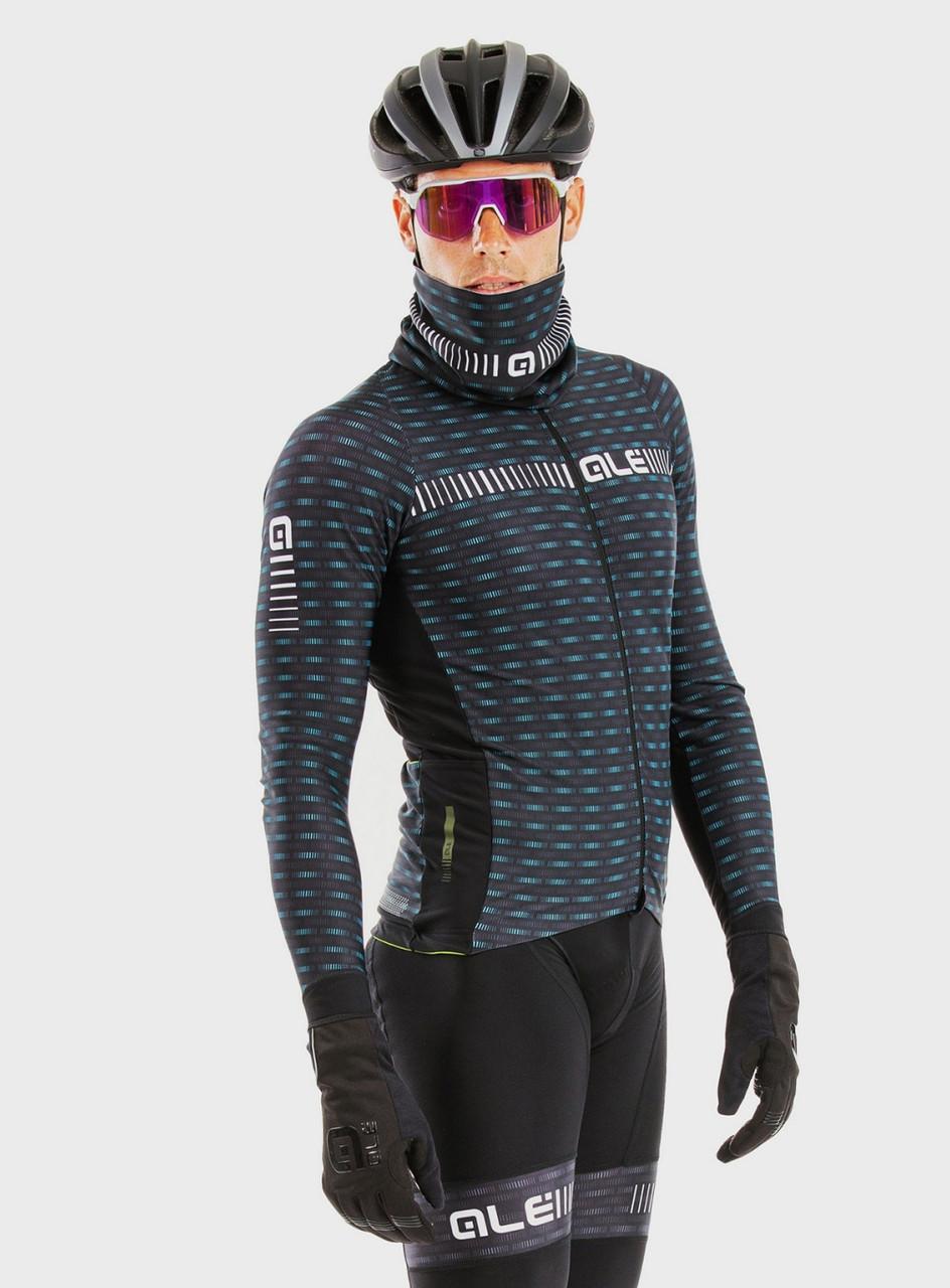 ALE' Green Road PRR Black Long Sleeve Jersey Rider