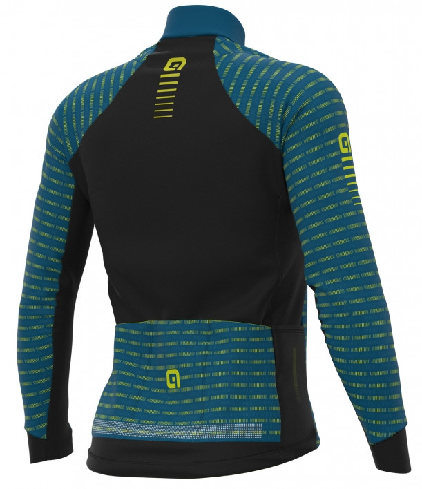 ALE' Green Road PRR Blue Long Sleeve Jersey Rear
