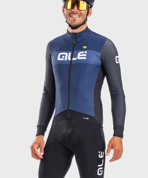 ALE' Logo DWR PRS Blue Long Sleeve Jersey Rider