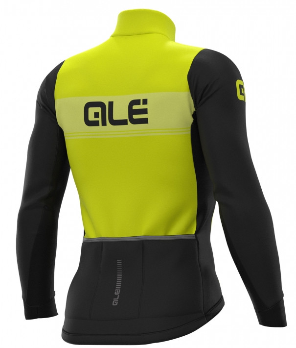 ALE' Logo DWR PRS Yellow Long Sleeve Jersey Rear