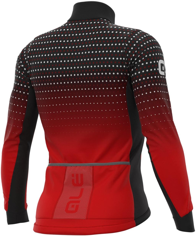 ALE' Bullet DWR PRS Red Long Sleeve Jersey Rear