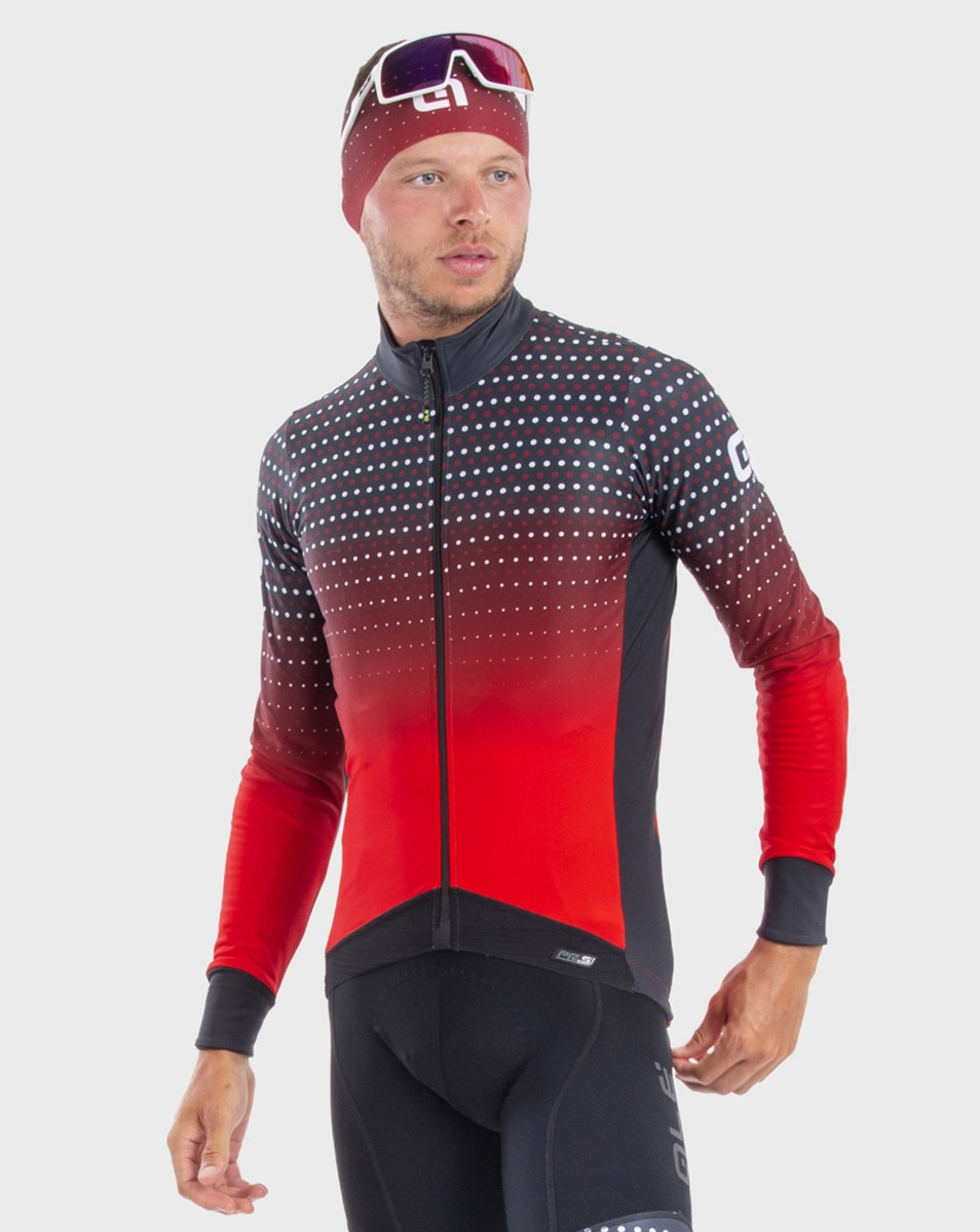 ALE' Bullet DWR PRS Red Long Sleeve Jersey Rider