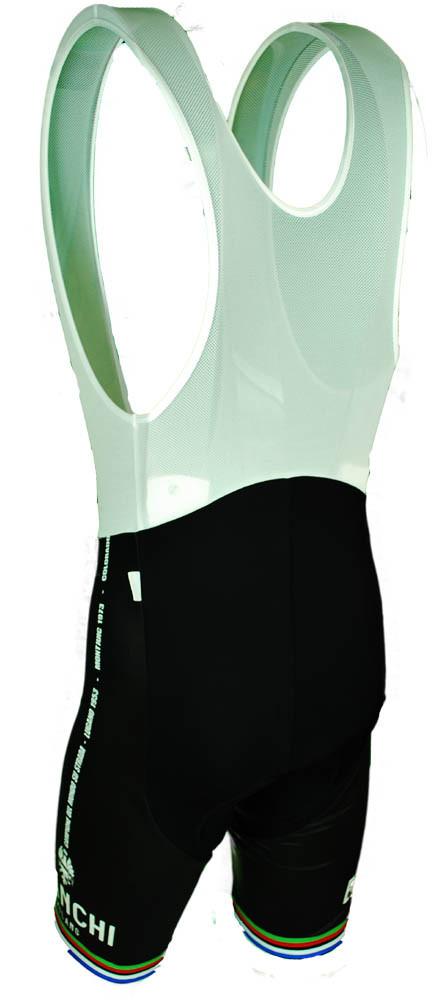 Bianchi Milano Victory Black Bib Shorts Rear