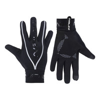Nalini New Mid Pure Black Silver Gloves