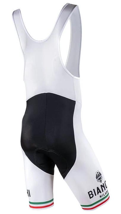 Bianchi Milano White Pelau Bib Shorts Rear