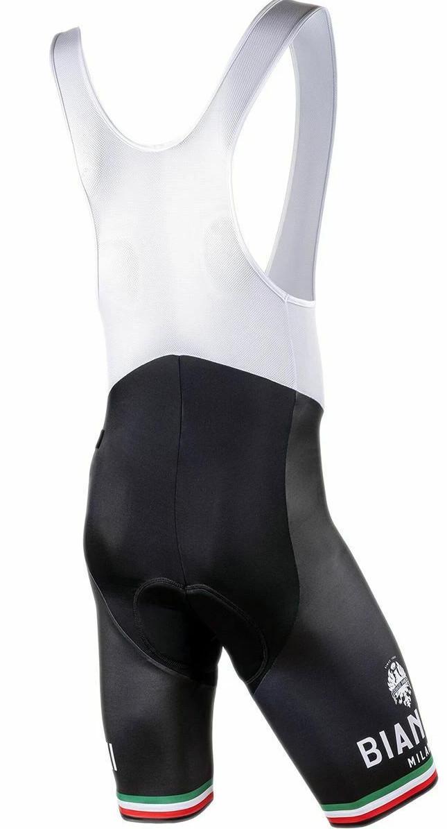 Bianchi Milano Black Pelau Bib Shorts Rear