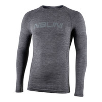 Nalini Wool Thermal Baselayer Gray Long Sleeve