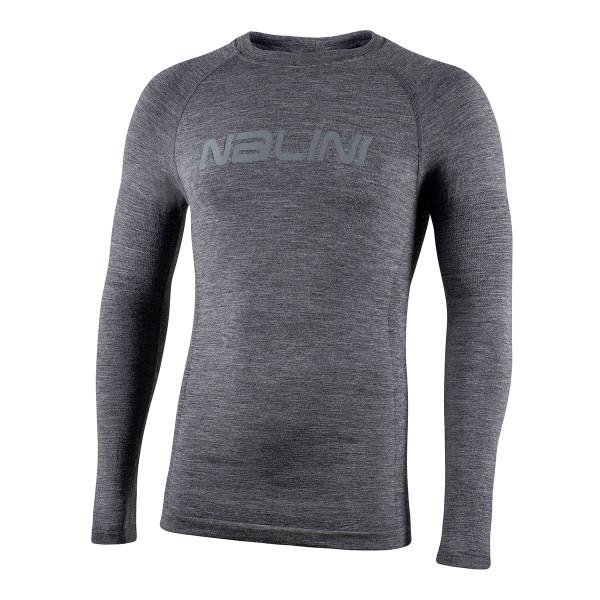 Nalini Wool Thermal Baselayer Gray Long Sleeve