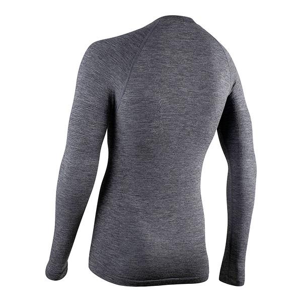 Nalini Wool Thermal Baselayer Gray Long Sleeve Rear