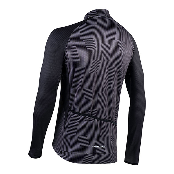 Nalini Classica B0W Gray Long Sleeve Jersey Rear