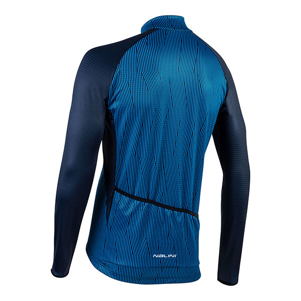 Nalini Classica B0W Blue Long Sleeve Jersey Rear
