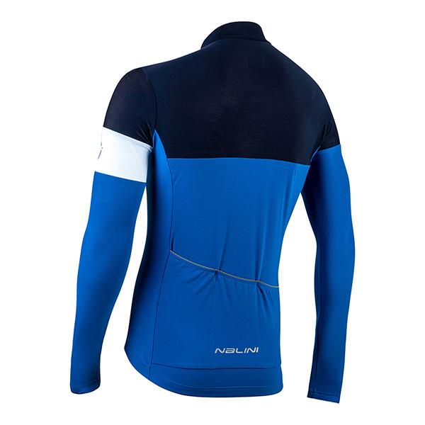 Nalini Pro Corsa B0W Blue Long Sleeve Jersey Rear