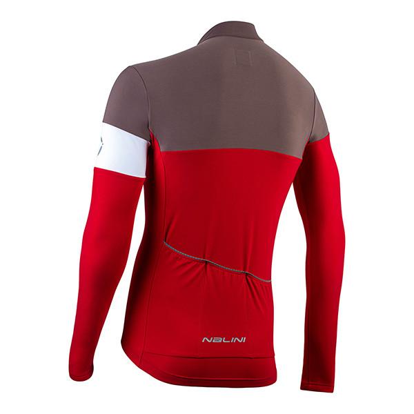 Nalini Pro Corsa B0W Red Long Sleeve Jersey Rear