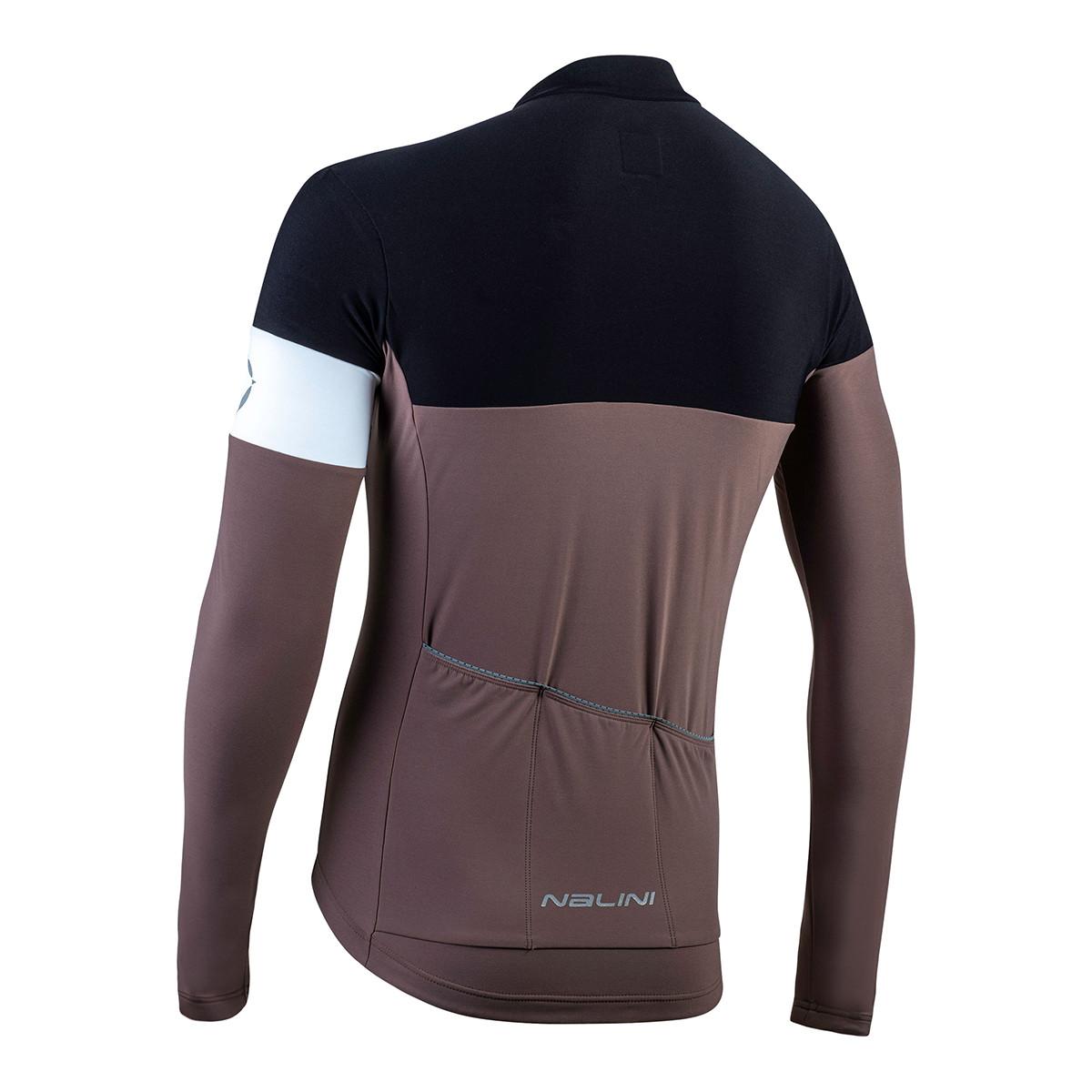 Nalini Pro Corsa B0W Brown Long Sleeve Jersey Rear