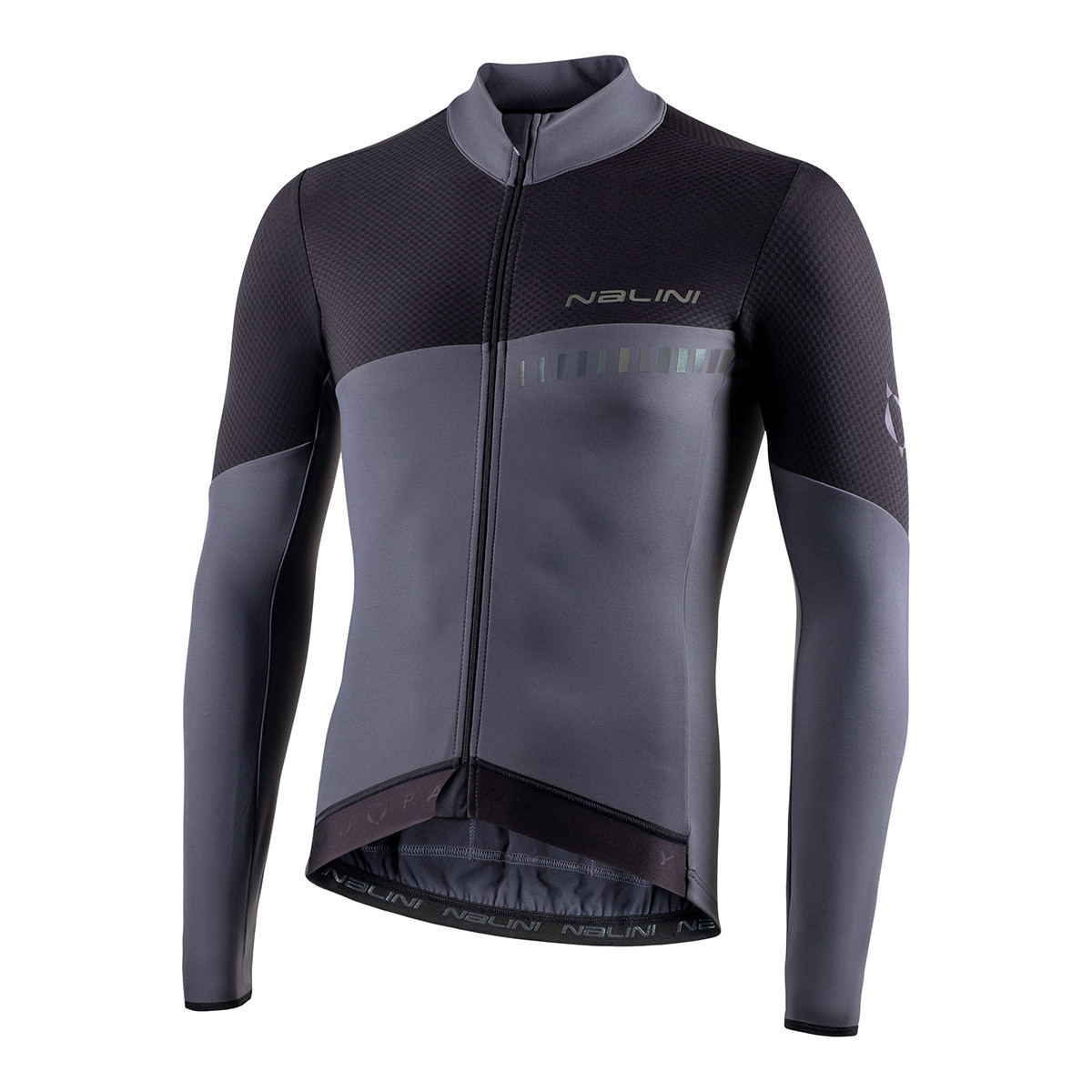 Nalini Xwarm B0W Black Gray Long Sleeve Jersey