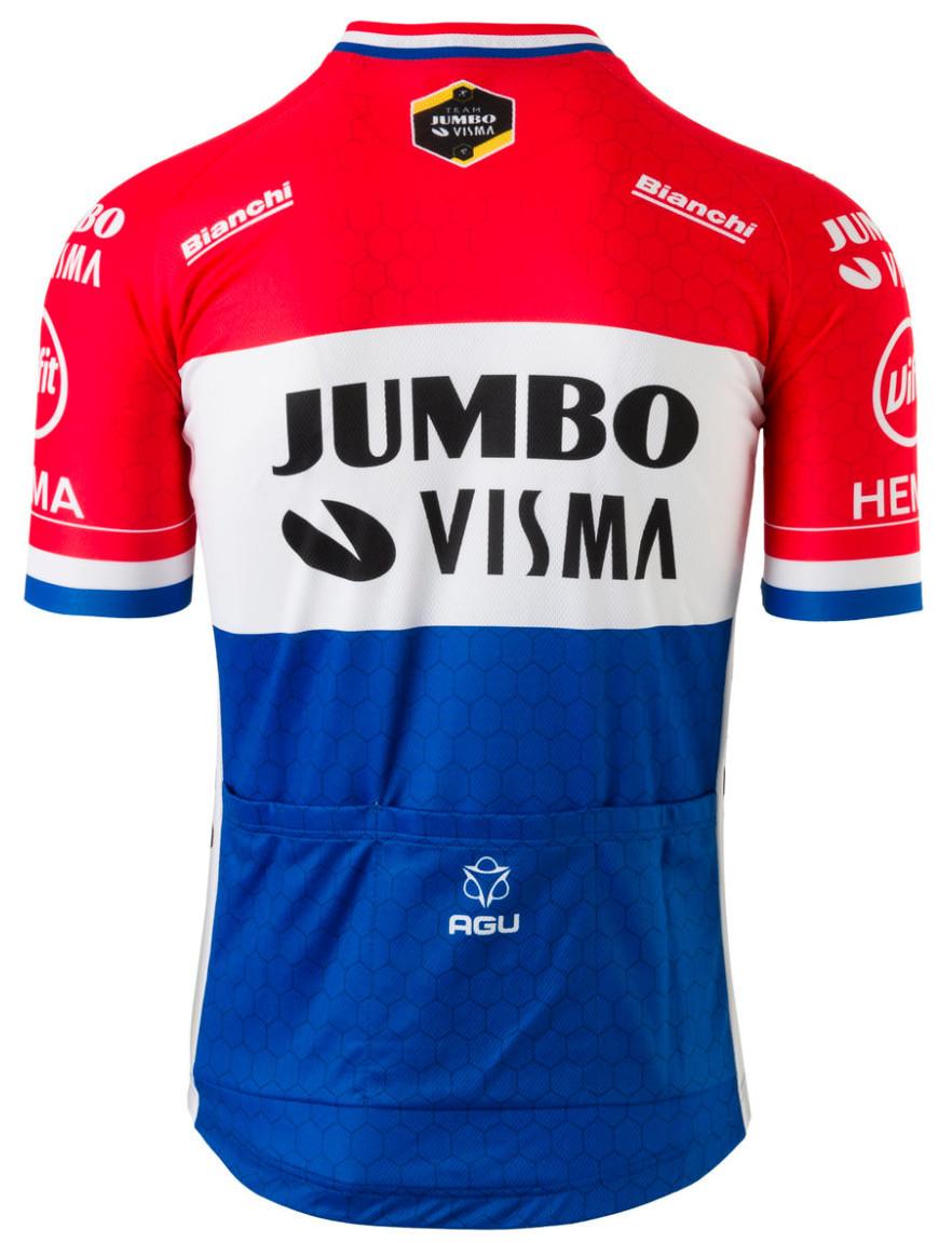 2020 Jumbo Visma Dutch Champion Jersey Rear