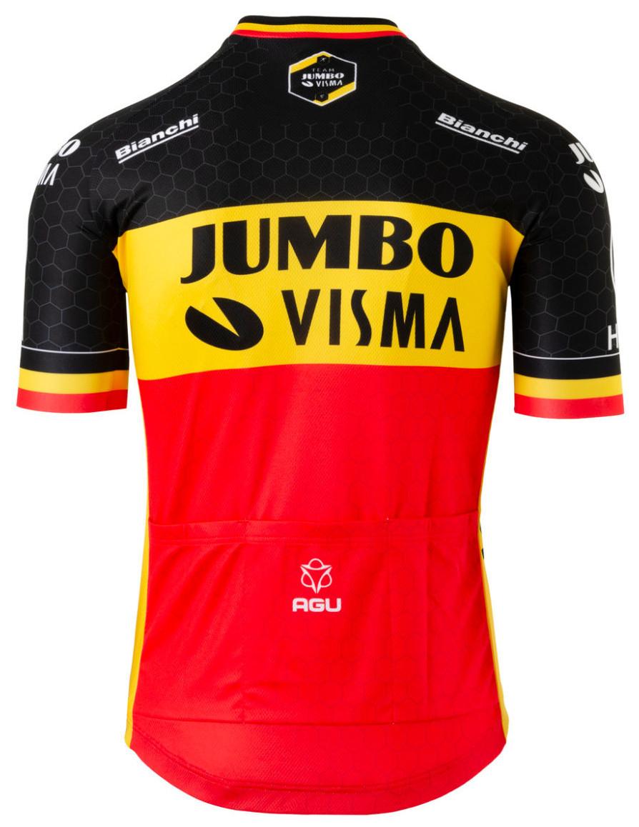 2020 Jumbo Visma Belgian Champion Jersey Rear