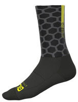 ALE' Exagon Socks 18CM High Cuff Black Socks