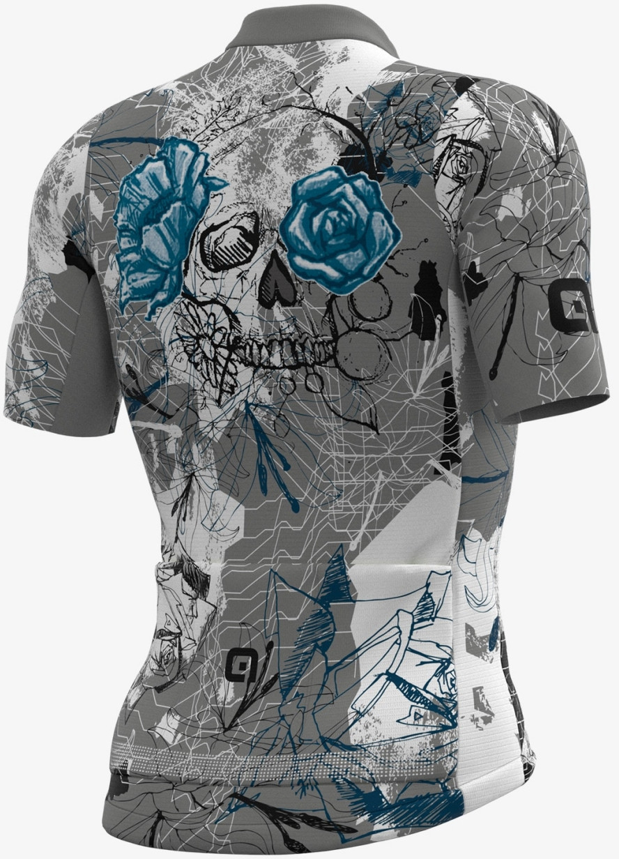 ALE' Skull PRR Gray Blue Jersey Rear