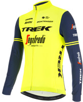 2021 Trek Segafredo Yellow Fluo Long Sleeve Jersey Side
