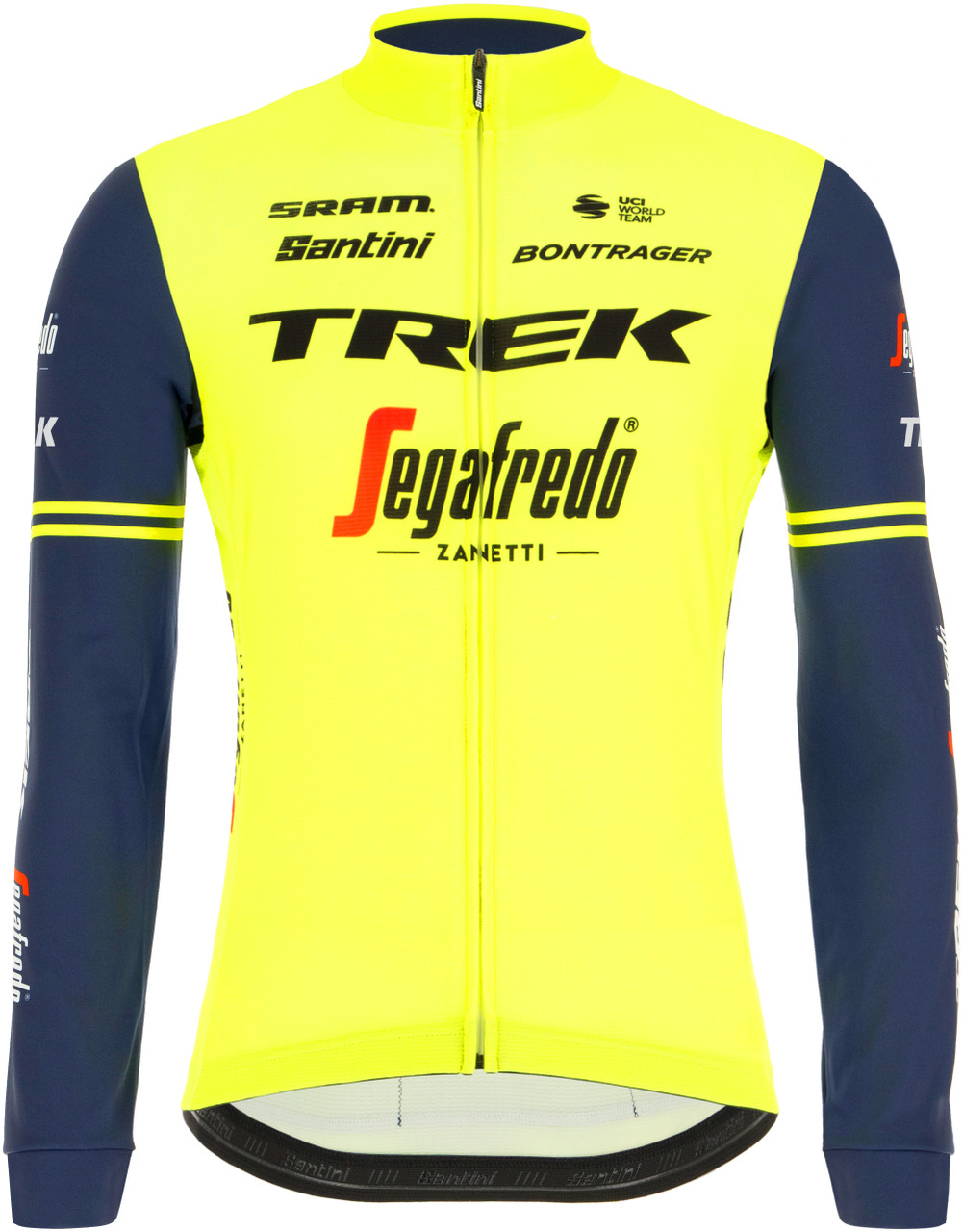 2021 Trek Segafredo Yellow Fluo Long Sleeve Jersey