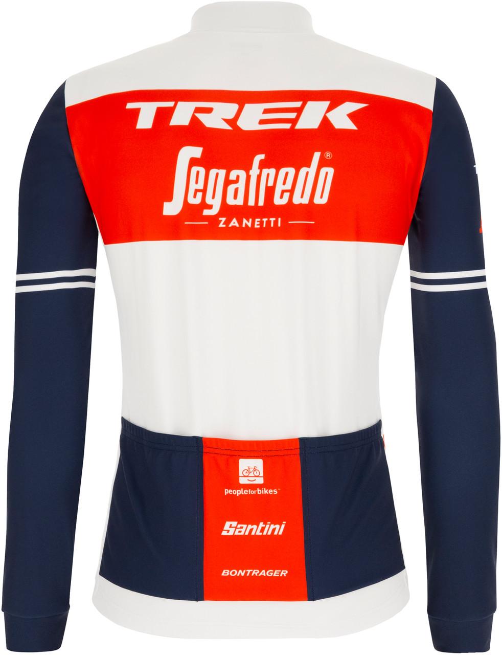 2021 Trek Segafredo Long Sleeve Jersey Rear