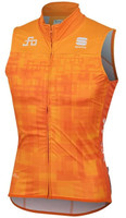Sagan Logo Bodyfit Wind Vest Orange