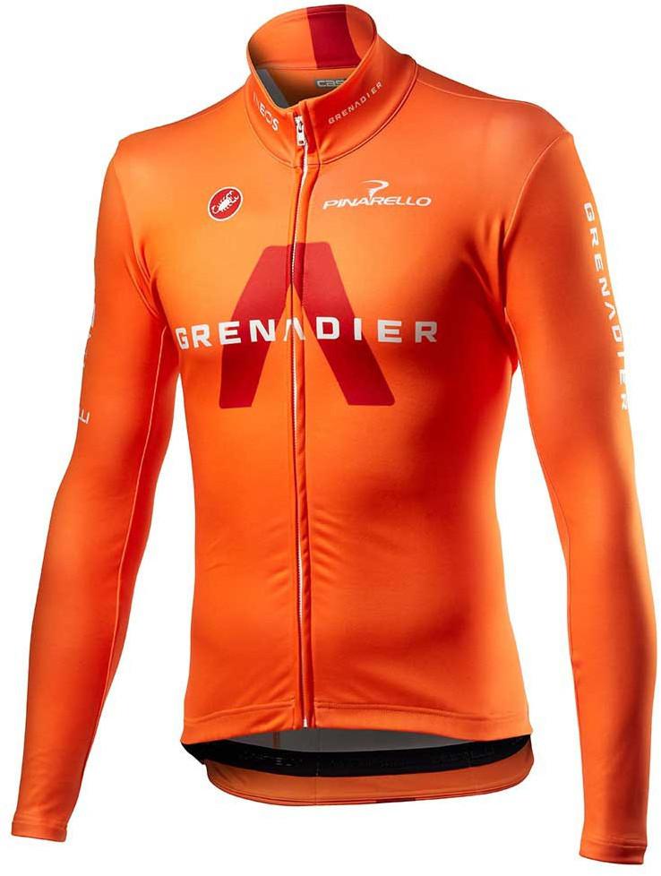 2021 Ineos Grenadier Competizione Orange Long Sleeve Jersey