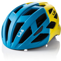LAS ENIGMA Matt Petrol Blue Yellow - No Visor Helmet