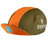 Bianchi Milano Neon Brown Orange Stripe 4400 Cap
