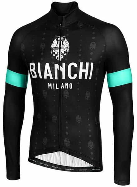 Bianchi Milano Perticara Black Long Sleeve Jersey