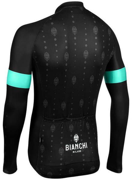 Bianchi Milano Perticara Black Long Sleeve Jersey Rear