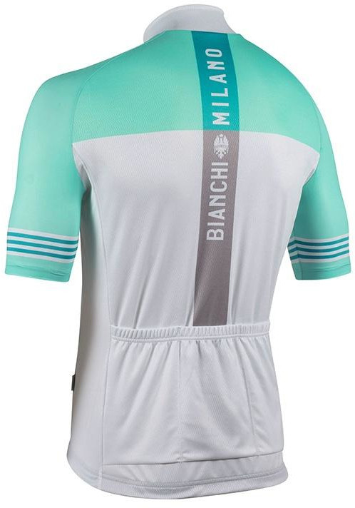 Bianchi Milano Prizzi White Celeste Jersey Rear