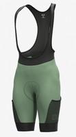 ALE' Gravel Stones Cargo Green 4H Pad Olive Bib Shorts