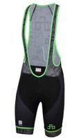 Sagan Logo Body Fit Classic Bib Shorts Gray Green