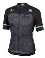 Sagan Logo Bodyfit Team Jersey Dark Grey