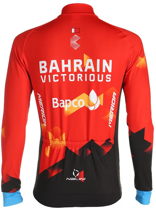 2021 Bahrain Victorious Long Sleeve Jersey Rear