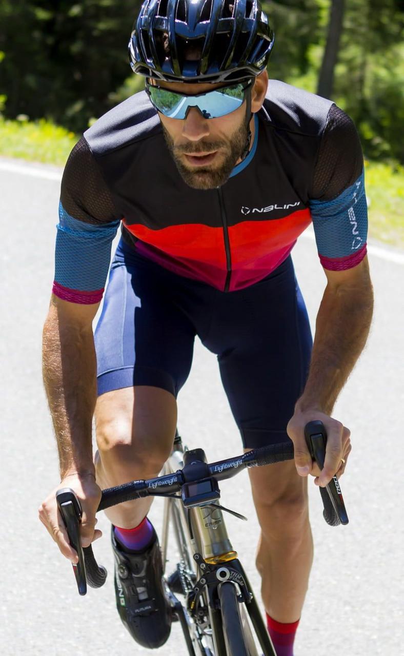 Nalini Road BAS Blue Bib Shorts Rider