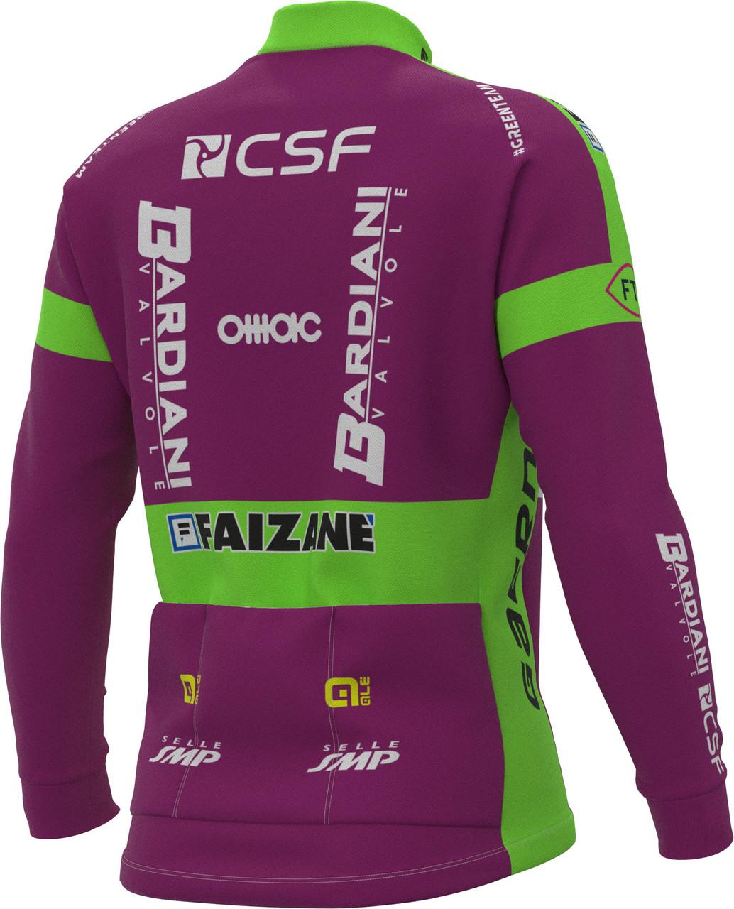 2021 Bardiani CSF Prime Long Sleeve Jersey Rear