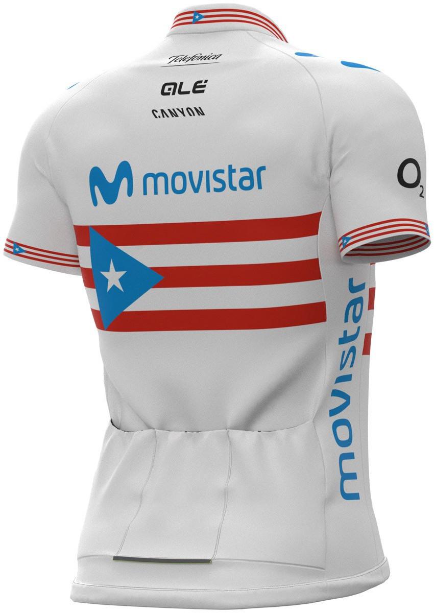 2021 Movistar Puerto Rico Champ Full Zipper Jersey Rear