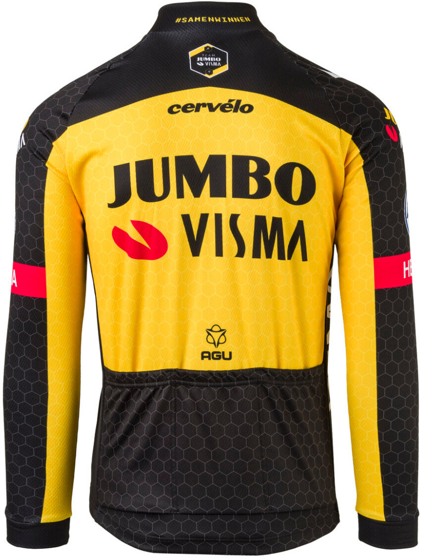 2021 Jumbo Visma Long Sleeve Jersey Rear