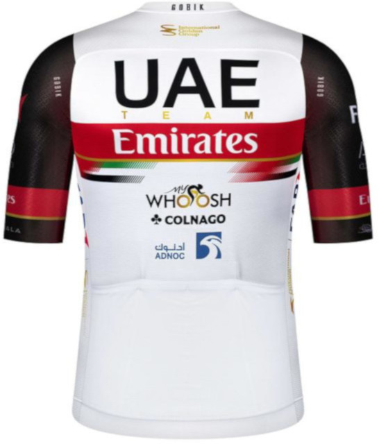 2021 UAE Team Emirates Infinity Full Zip Jersey Rear