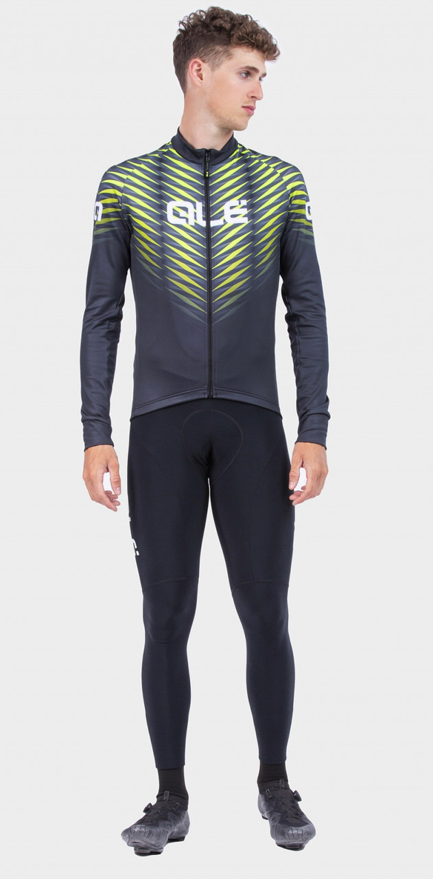 ALE' Thorn Solid Yellow Long Sleeve Jersey Rider