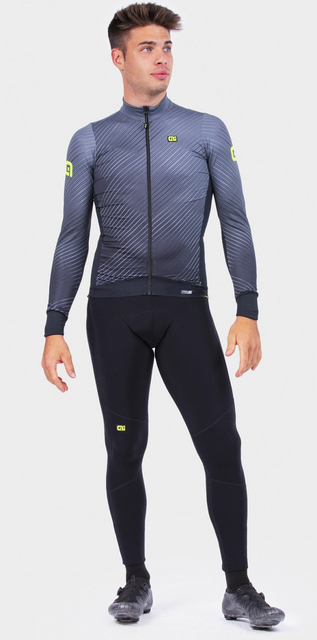 ALE' Storm PRS Gray Long Sleeve Jersey Rider