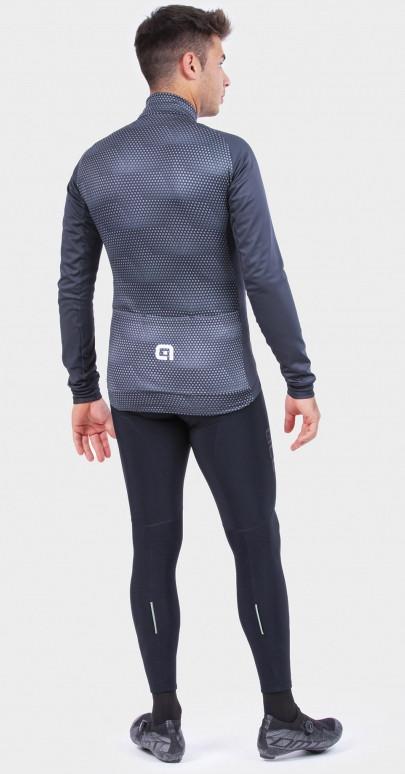 ALE' Storm PRS Gray Long Sleeve Jersey Rear