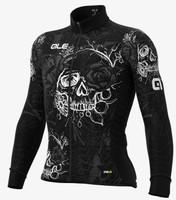 ALE' Skull PRR Black Long Sleeve Jersey