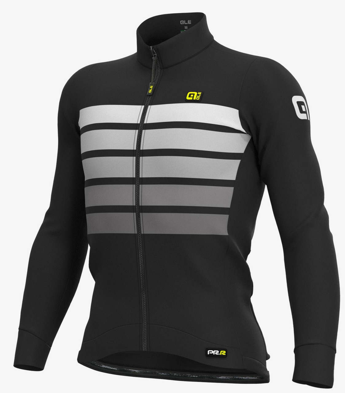 ALE' Sombra Wool Thermo PRR Gray Long Sleeve Jersey