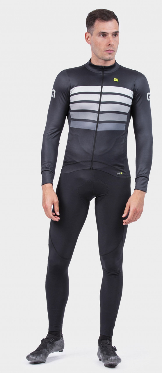 ALE' Sombra Wool Thermo PRR Gray Long Sleeve Jersey Rider