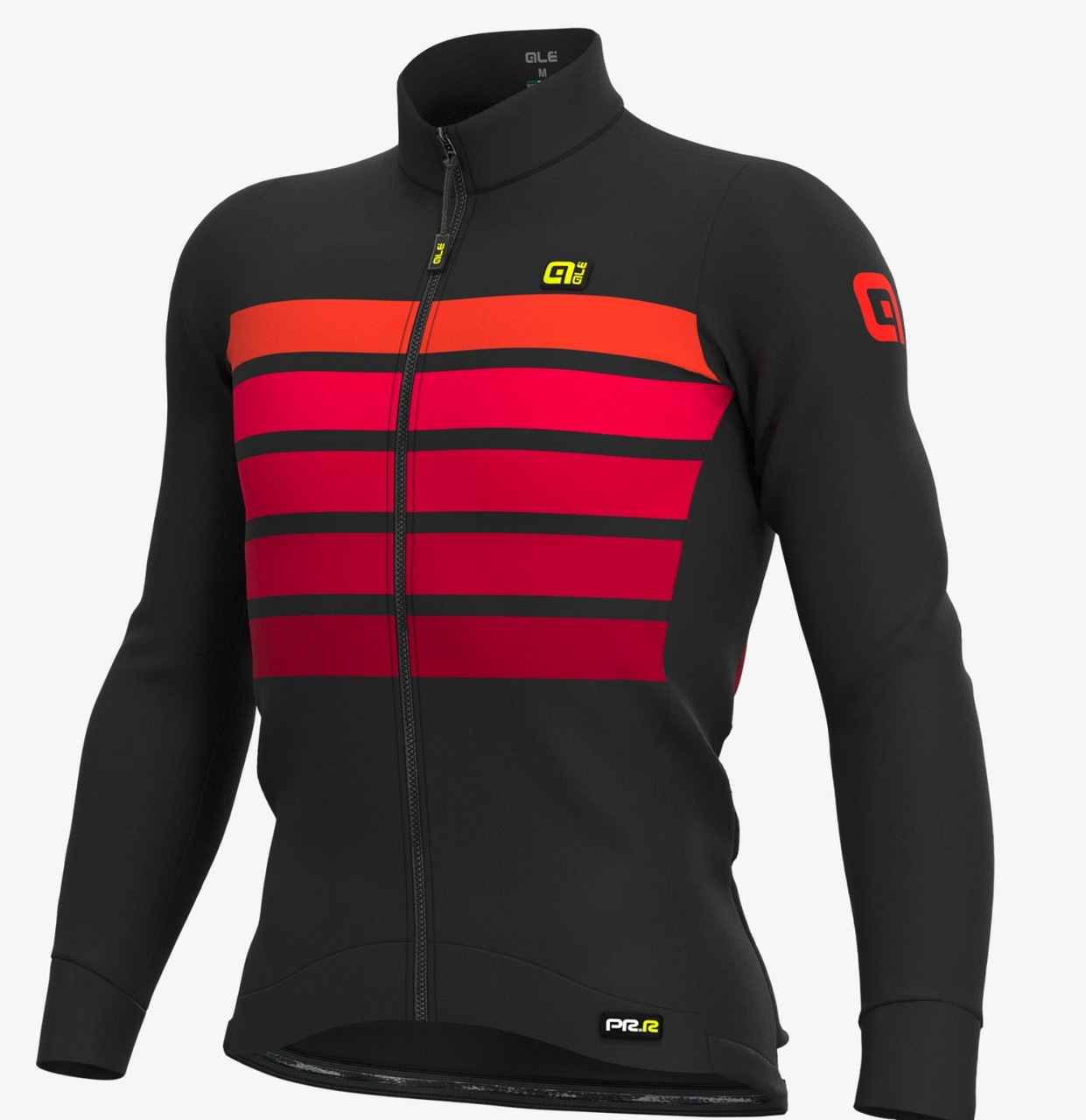 ALE' Sombra Wool Thermo PRR Bordeaux Long Sleeve Jersey
